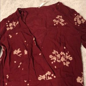 Free people burgundy dress